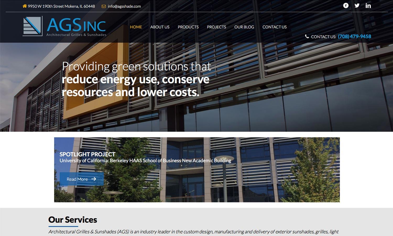 Architectural Sunshades Website